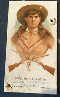 1887 Annie Oakley Allen & Ginter's The World's Champions Tobacco card - Original