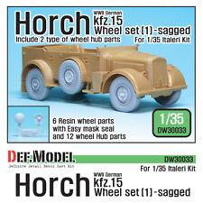 DEF. Model, WW2 German Horch Kfz.15 Wheel Set 1, DW30033, 1:35