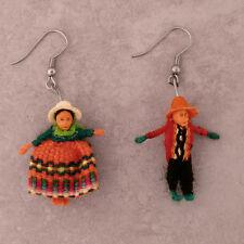 #1194 -  12 Pair Pack Worry Doll Earrings Girls Jewelry Peru Fair Trade Artisan