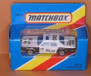 MATCHBOX by Lesney - MB 10 U.S Plymouth Police Car - MADE IN MACAU