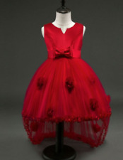 DN130- Lovely And Elegant Cocktail/ Gowns For Kids For 3 Years Old (Red)