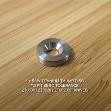 Zero Tolerance ZT0630 ZT0620 Knives Custom Titanium Thumb Disc Washer LBS - RAW