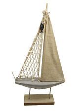 29,5 x 17cm maritime Bad-Deko Segelboot Boot Schiff Segler im Shabby-Look ca