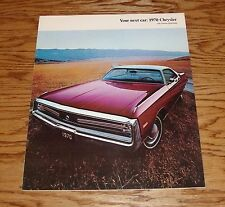 Original 1970 Chrysler with Torsion-Quiet Ride Sales Brochure - Canadian 70