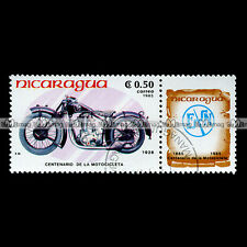 ★ FABRIQUE NATIONALE FN 500 M67 C 1928 ★ NICARAGUA Timbre Moto - Stamp #54