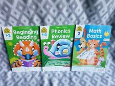 School Zone: Math Basics, Phonics Review, Beginning Reading Level 1-3 ages 6-9