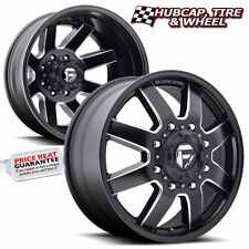 "FUEL D538 MAVERICK DUALLY BLACK MILLED 20""x8.25 CUSTOM WHEELS RIMS (SET OF 4)"