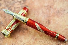 David Oscarson Diamond Edition Amber Harvest Fountain Pen #2/3 Solid 18k Gold