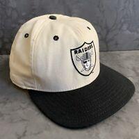 Vtg Raiders NFL New Era Snapback Hat USA Dupont Visor Pro Design M-L Old Golfer