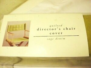 Pier 1 One Imports Director's Chair Cover Sage Green Denim New In Box Free Ship