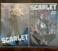 Scarlet (Icon, 2010) #1 & #2 NM by Bendis and Maleev