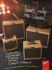 """1994 Fender Tweed Serie Amp photo """"There's Only One Classic"""" promo print ad"""