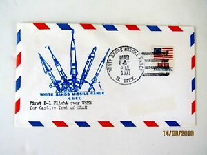 B-1 First Flight over White Sands Missile Range, March 4, 1977, Nice cachet