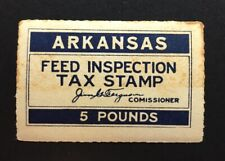 Arkansas State Revenue - blue 5 lbs. Feed Tax #FE9 - MNH - some toning - AR