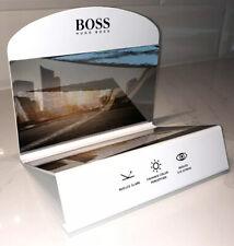 New Hugo Boss Polarized Lens Checker / Display White Metal