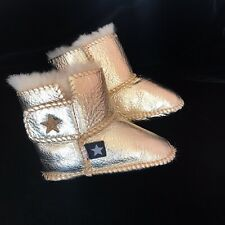 Baby Boots Gold Sheepskin MOLO  0-3 Months.