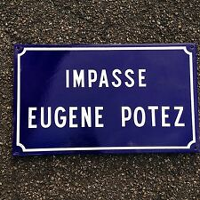 French Street Enamel Sign Plaque - RARE FROM AVIGNON metal potez