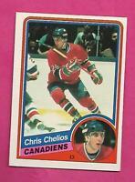 1984-85 OPC # 259 CANADIENS CHRIS CHELIOS  ROOKIE EX-MT CARD (INV# H169)