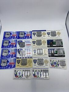 PBA Card Lot of 18 Different New York NYC Patrolmens Benevolent Association