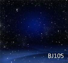 10X10FT Night Blue Sky Stras Vinyl Background Backdrop Photo Studio Prop BJ105
