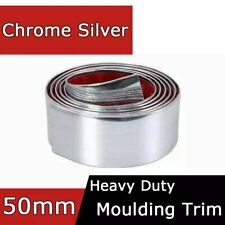 Car Cab Ute Side Door Body Around Chrome Moulding Line Protect 50mm x 5.5Meters