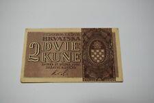 2 kune 1942 Croatia banknote