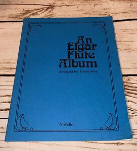 Novello Sheet Music An Elgar Flute Album ~ 1983 Trevor Wye Grade 4-6