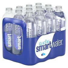 Pack of 12 Glaceau Smartwater Natural Mineral Water Bottle Plastic 600ml