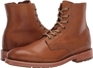 New in Box FRYE Men's Bowery Lace Up Combat Boot Caramel Size 11.5 M MSRP $ 358