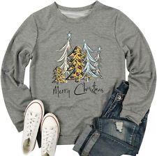 Tree Leopard Buffalo Red White Merry Christmas Xmas T-Shirt S-5XL Sweatshirt