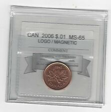 **2006 Logo Magnetic**Coin Mart Graded Canadian Small One Cent, **MS-65**