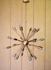 24 Lights Mid Century Modern Antique Brass Sputnik Chandelier light fixture