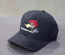 Men's Mr. Horsepower Black Center Classic Logo Fitted Hat Flex Fit H15-SM/MED