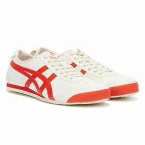 Onitsuka Tiger Mexico 66 Mens Cream / Fiery Red Trainers