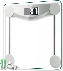 Etekcity Digital Body Weight Bathroom Scale, 440 Pounds, 6mm Tempered Glass with