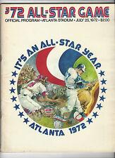 1972 MLB All-Star Game Program Unscored Atlanta ROBERTO CLEMENTE WILLIE MAYS