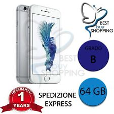 IPHONE 6s RIGENERATO GRADO B 64GB 64 GB SILVER ORIGINALE APPLE + GARANZIA 1 ANNO