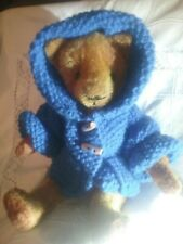 Antique 1920s Early American Bristle Mohair Teddy Bear with Shoebutton Eyes