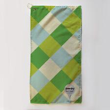 Golf Towel Everdry Microfiber Plus Blue Green Diamonds 63x30cm Accessory Gift