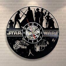 Boba Fett Figure Death Star Star Wars_Exclusive wall clock made of vinyl record
