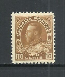 CANADA SCOTT 118 MH F/VF - 1925 10c BISTER BROWN KING GEORGE V  ISSUE   CV $40