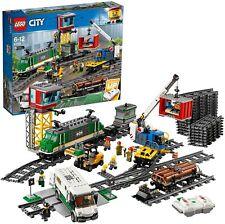 Lego City Cargo Train Set batteriebetrieben Motor 60198 Waggons Schienen Zubehör