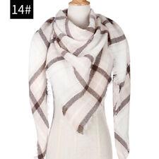 Women Faux Cashmere Winter Soft Warm Scarf Shawl Plaid Grid Scarves Novelty