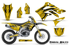 KAWASAKI KXF450 KX450F 12-15 CREATORX GRAPHICS KIT DECALS TRIBAL BOLTS YNP