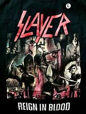 Slayer Reign In Blood Thrash Metal Classic T Shirt Size L Brand New