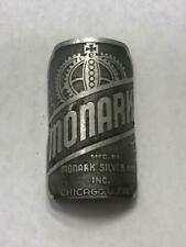 antique MONARK bicycle HEAD BADGE tag SIlver King 5 Bar Superframe #2