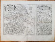 ORTELIUS Original Map France Biturigum Bourges Limaniae Clermont - 1573