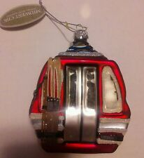 Midwest CBK Glassworks Gondola Ski lift Christmas Ornament, New,4.5 x 3.5 inches