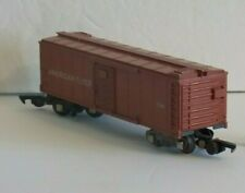 AMERICAN FLYER vintage 734 Tuscan Brown painted OPERATING BOX CAR C-6
