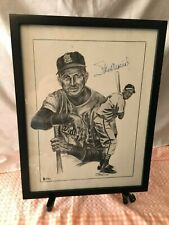 Stan Musial Autographed auto Lithograph Beckett authenticate Litho Framed